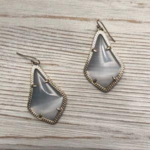 Kendra Scott Gold and Slate Alex Drop Earrings